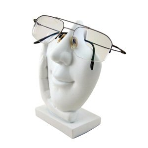 Eyeglass Frame Holders : Face Eyeglass Holder White Sculpted Eyeglass or Sunglass
